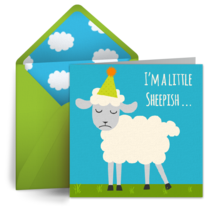 BAA-lated Birthday card image