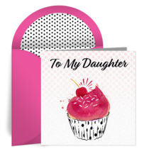 Birthday Cupcake for Daughter card image