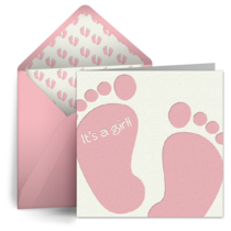 Baby Feet (Girl) card image