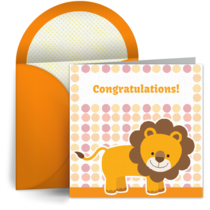 Congratulations Lion card image