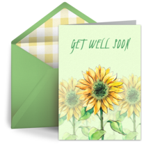 Get Well Flowers card image