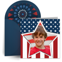 Photo Stars and Stripes card image