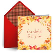 Thanksgiving Autumn Leaves card image