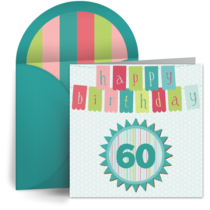 60th Birthday Banner card image