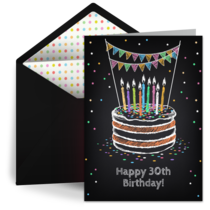 Milestone Birthday Cake card image