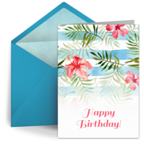 Birthday Flowers Pattern card image