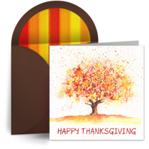 Thanksgiving Tree card image