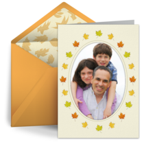Oval Leaf Photo Frame card image