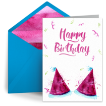 Belated Party Hats card image