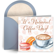 Elegant Cup of Coffee card image