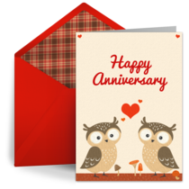 Love Owls card image