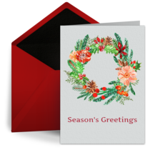 Holiday Flowers card image