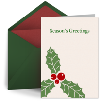 Holly Decoration card image