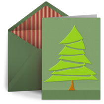 Embossed Christmas Tree card image