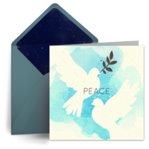 Peace Dove card image