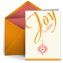 Joy and Cheer card image