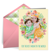 Floral Wreath Photo Frame card image