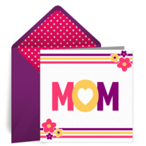 Mom Flower card image