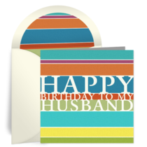 Birthday Stripes for Husband card image
