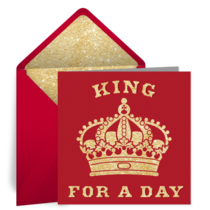 King Birthday card image