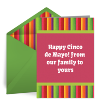 Cinco de Mayo Stripe card image