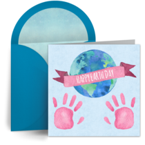 Earth Day Loving Hands card image