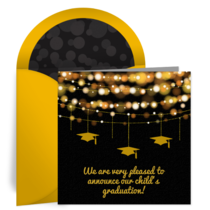 Chic Graduation Ornaments card image