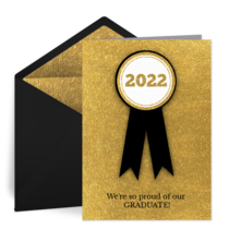 Graduation Announcement Ribbon card image