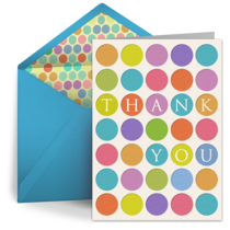 Bright Polka Dots card image