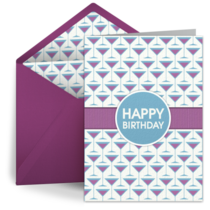 Martini Birthday Pattern card image