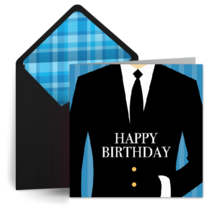 Distinguished Birthday card image