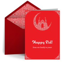 Eid Crescent card image