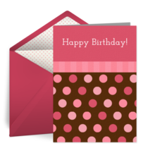 Birthday Candy Dots card image