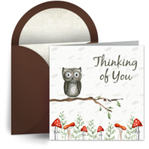 Worried Owl card image