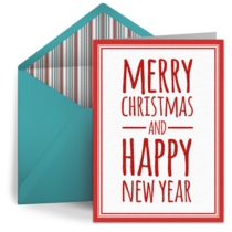 Ombre Christmas card image