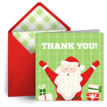 Santa Thank You card image