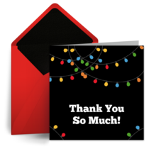 Festive Thank You card image