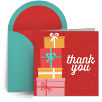 Christmas Thank You card image