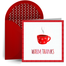 Cozy Warm Thanks card image
