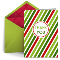 Holiday Thank You card image