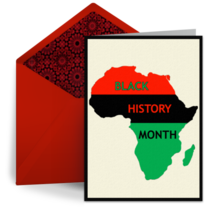 Black History Month card image