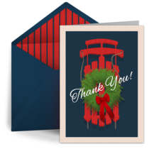 Thank You Sleigh card image