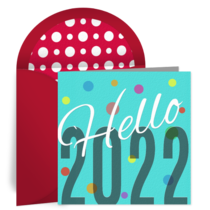 Hello 2021 card image