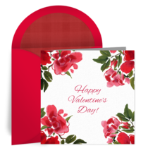 Valentine Roses card image