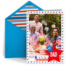 Red White and Blue card image