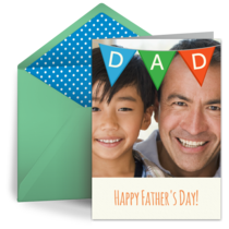 Father's Day Bunting card image