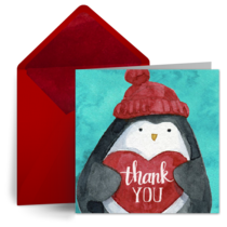 Holiday Penguin card image
