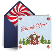 Thank You Gingerbread House card image