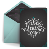 Valentine's Day Chalkboard card image