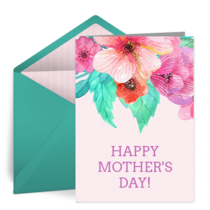 Mother's Day Watercolor card image